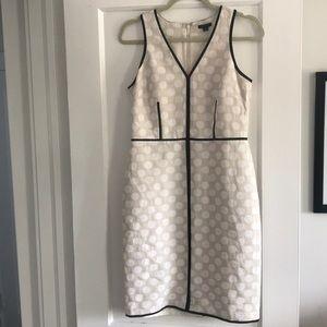 Ann Taylor 2 White Polka Dot Sheath Dress